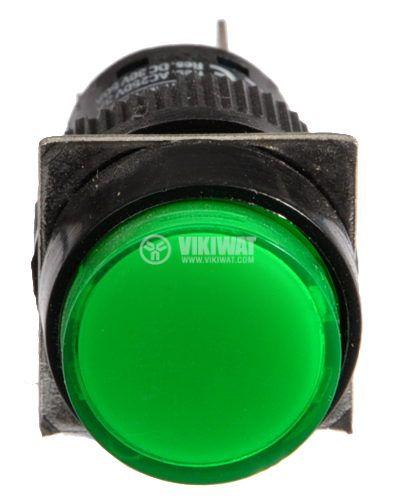 Бутон светещ тип RAFI LA139S-11ADT 24VAC/DC SPDT - NO+NC зелен - 2