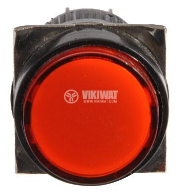 Бутон светещ тип RAFI LA139S-22AD 24VAC/DC 2PDT - 2NO+2NC червен - 3