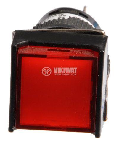 Бутон светещ тип RAFI LA139S 24VAC/DC SPDT - NO+NC червен - 2