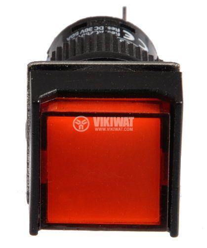 Бутон светещ тип RAFI LA139S-11FDT 24VAC/DC SPDT - NO+NC червен - 2