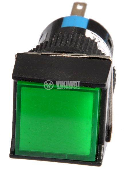 Button Light Switch type RAFI LA139S 24VAC/DC SPDT - NO+NC green - 2