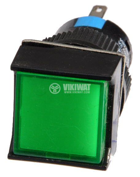 Бутон светещ тип RAFI LA139S-11FDT 24VAC/DC SPDT - NO+NC зелен - 2