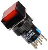 Бутон светещ тип RAFI, незадържащ, LA139S-22FD 24VAC/DC 2PDT - 2NO+2NC червен