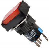 Бутонен превключвател, бутон, ON - ON, отвор ф16, 3A/250VAC, SPDТ