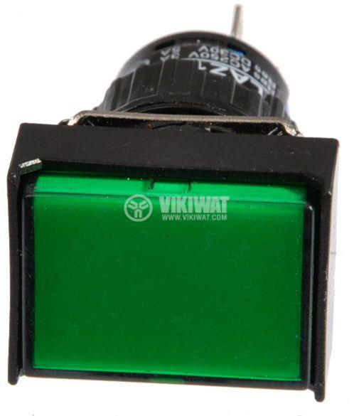 Бутон светещ тип RAFI LAZ16-11 24VAC/DC SPDT - NO+NC зелен - 2