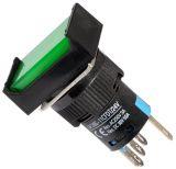 Бутон светещ тип RAFI, задържащ, LA139S-11CFDT 24VAC/DC SPDT - NO+NC зелен