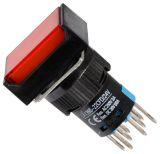 Бутон светещ тип RAFI LA139S-22CFD 24VAC/DC 2PDT - 2NO+2NC червен