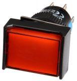 Бутон светещ тип RAFI LA139S-22CFD 24VAC/DC 2PDT - 2NO+2NC червен - 2