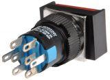 Бутон светещ тип RAFI LA139S-22CFDT 24VAC/DC 2PDT - 2NO+2NC червен - 3