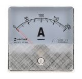 Analogue panel ammeter VF-80, 200 A, DC, shunt operated 60 mV