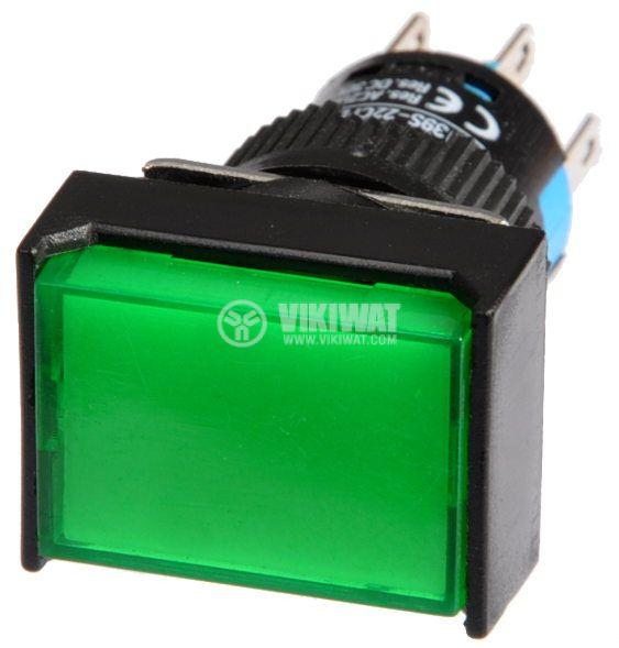 Бутон светещ тип RAFI LA139S-22CFDT 24VAC/DC 2PDT - 2NO+2NC зелен - 2