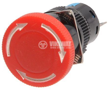 Бутон тип RAFI SDL16-11ZS 24VAC/DC SPDT - NO+NC червен - 2