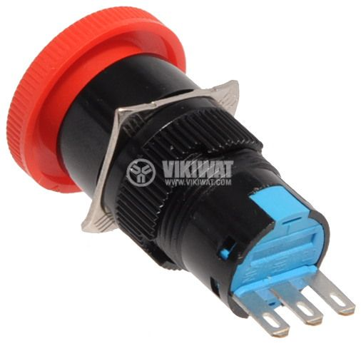 Бутон тип RAFI SDL16-11ZS 24VAC/DC SPDT - NO+NC червен - 4