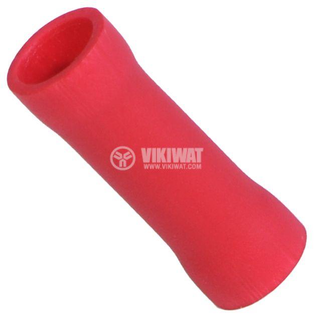 Втулка свързваща PVT1 вътрешен диаметър 2.5 mm червена - 1