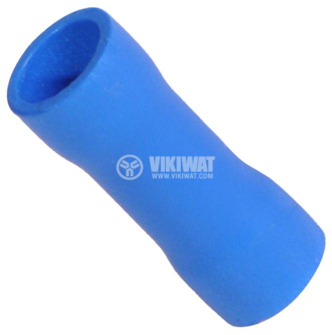 Втулка свързваща PVT2 2.5mm вътрешен диаметър 2.3mm синя  - 1