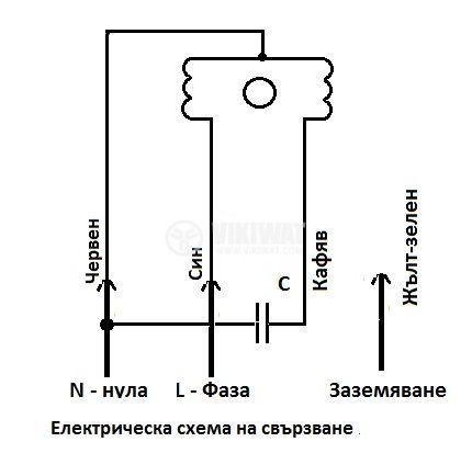 """Вентилатор промишлен OBR 200M-4K 220VAC/185W 850m3/h тип """"охлюв"""" с изнесена турбина с едностранно засмукване - 2"""