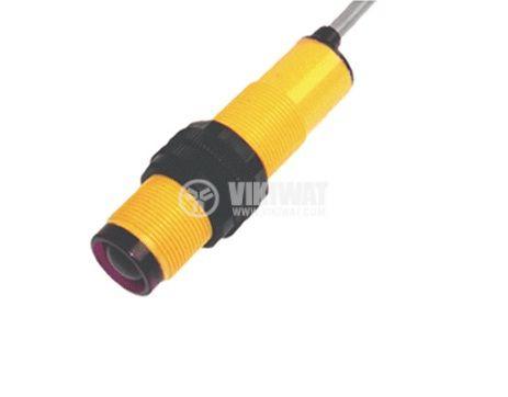 Оптичен датчик дифузен E3F-DS40-P3 M18x60mm PNP NO+NC обхват 400mm пластмасов - 2
