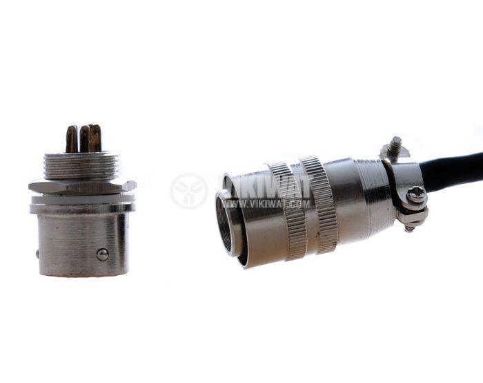 Куплунг комплект, XS12J5Y / XS12K5P, 5pins, метален, прав, с кабел 2m - 1