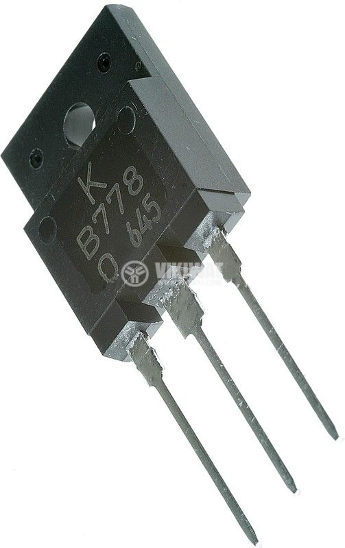 Транзистор 2SB778, PNP, 120 V, 10 A, 80 W, 10 MHz, TO-3PML/SC-65