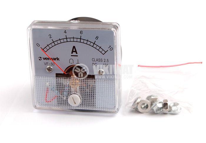 Амперметър, 10A, DC, VF-50, директен