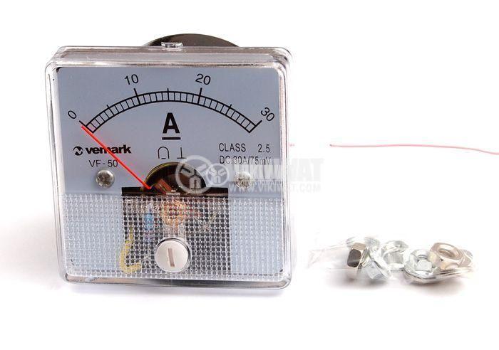 Амперметър, 30 A,DC VF-50, директен