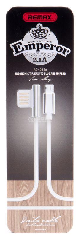 Kабел USB A към Micro USB B 1m бял - 4