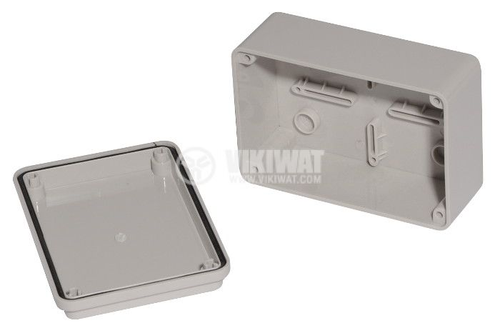 Enclosure box VB-AG-0812. 120x80x50mm, IP66,  grey  - 2