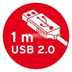 Разклонител 2-ка, за бюро с 4 USB порта, Brennenstuhl, 1.8m кабел, сребрист - 6