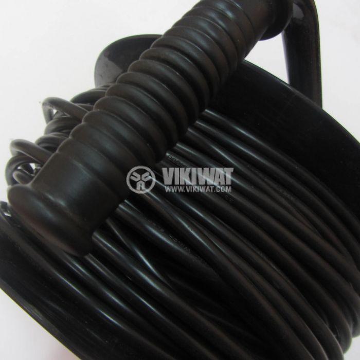 Extension cord reel, 3x1.5mm2, 4 sockets, 30m - 2