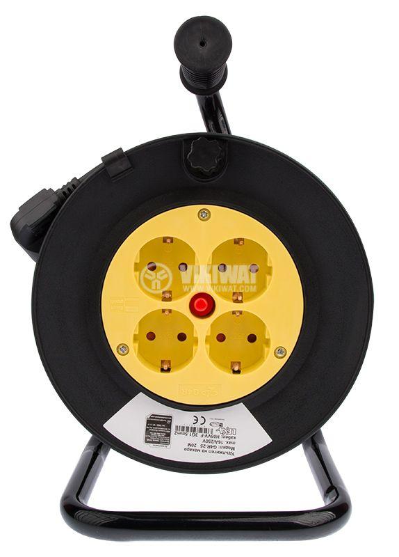 Extension cord reel, 3x1.5mm2, 4 sockets, 20m - 3