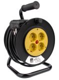 Extension cord reel, 3x1.5mm2, 4 sockets, 20m