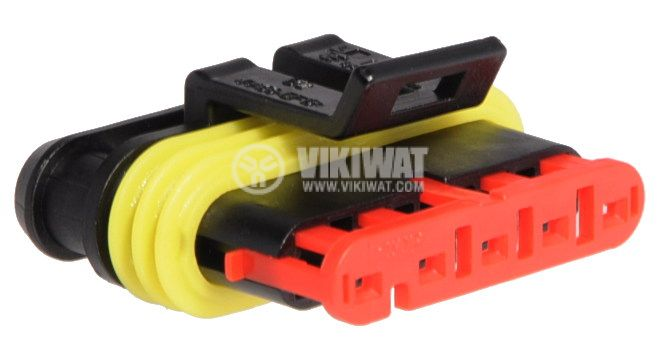 Connector AMP-0-0282089-1, 5 pins, 24VDC, IP67 - 2