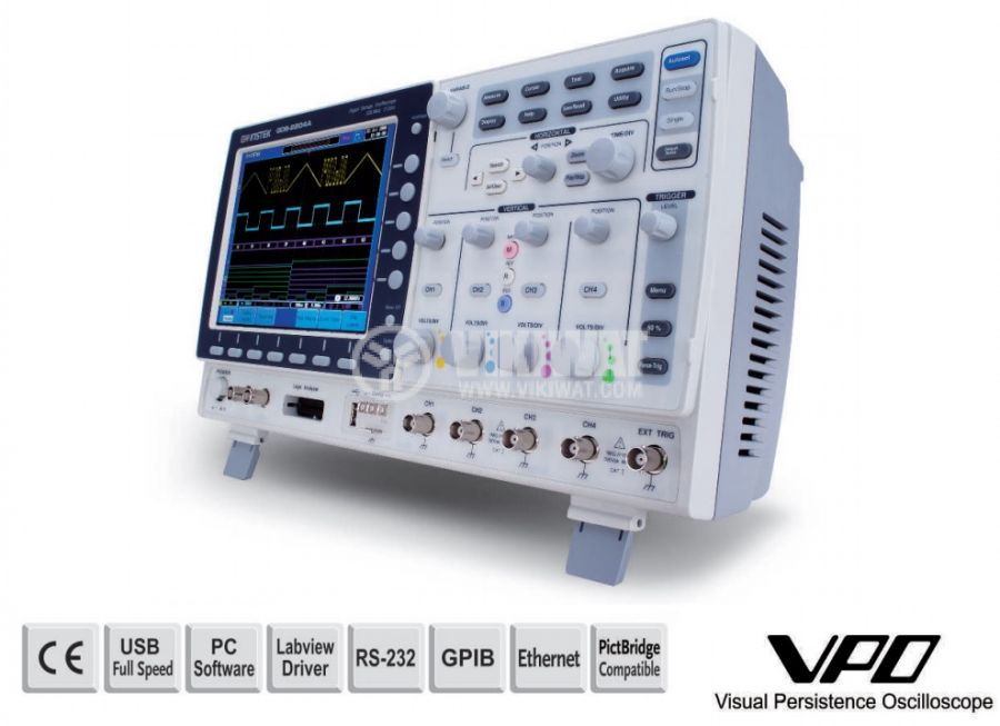 Digital Oscilloscope  GDS-2072A, 70 MHz, 2 GSa/s real time, 2 channel - 1