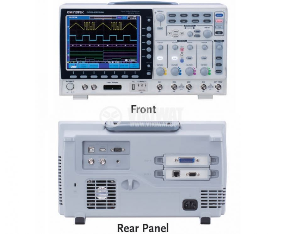 Digital Oscilloscope  GDS-2072A, 70 MHz, 2 GSa/s real time, 2 channel - 2