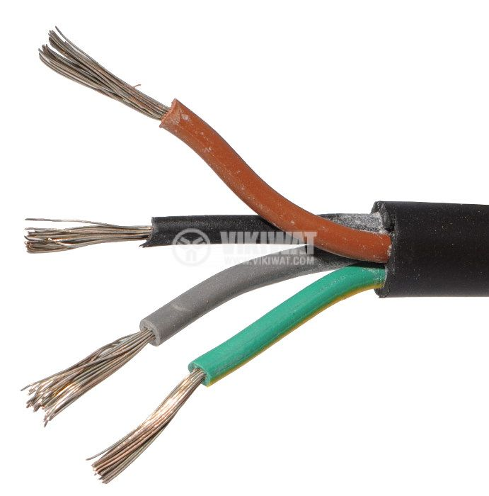 flexible cable type H05RR-F 4х1mm2 SBR rubber insulation