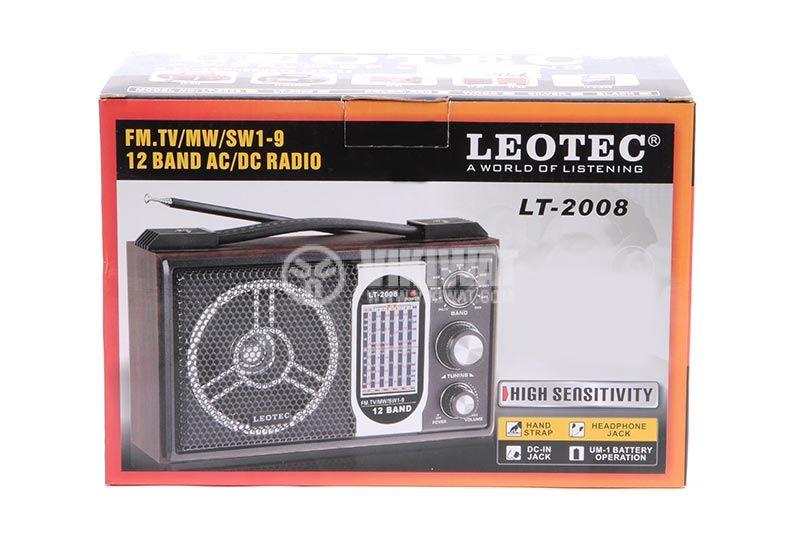 Класическо FM радио LT-2008+SV-10, LEOTEC - 6