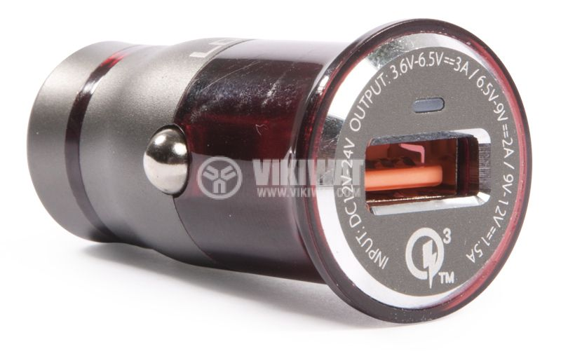 Зарядно устройство за кола, LDNIO C304Q, с Lightning port - 1