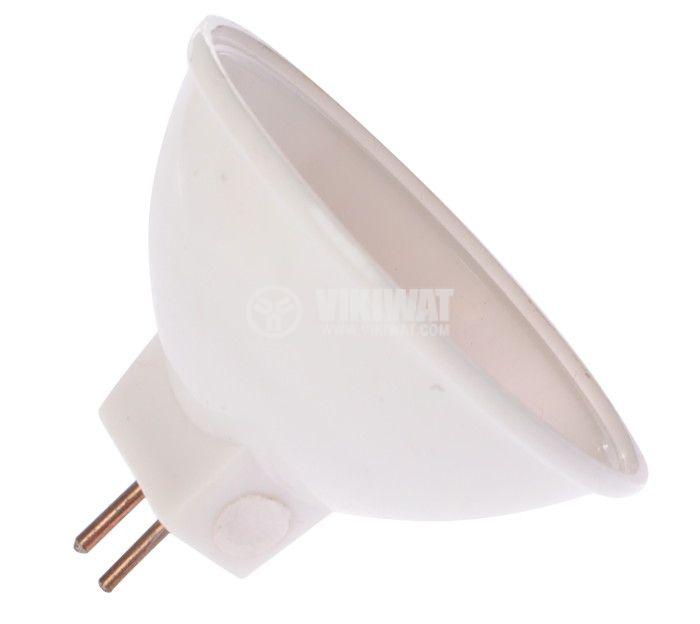 LED лампа GU5.3, 0.7W, 12VAC/DC, оранжева, 12LEDs - 2