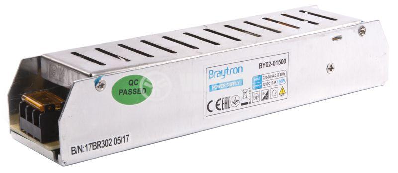 Захранващ блок, BY02-01500, 220VAC-12VDC, 12.5A, 150W, IP20 - 3
