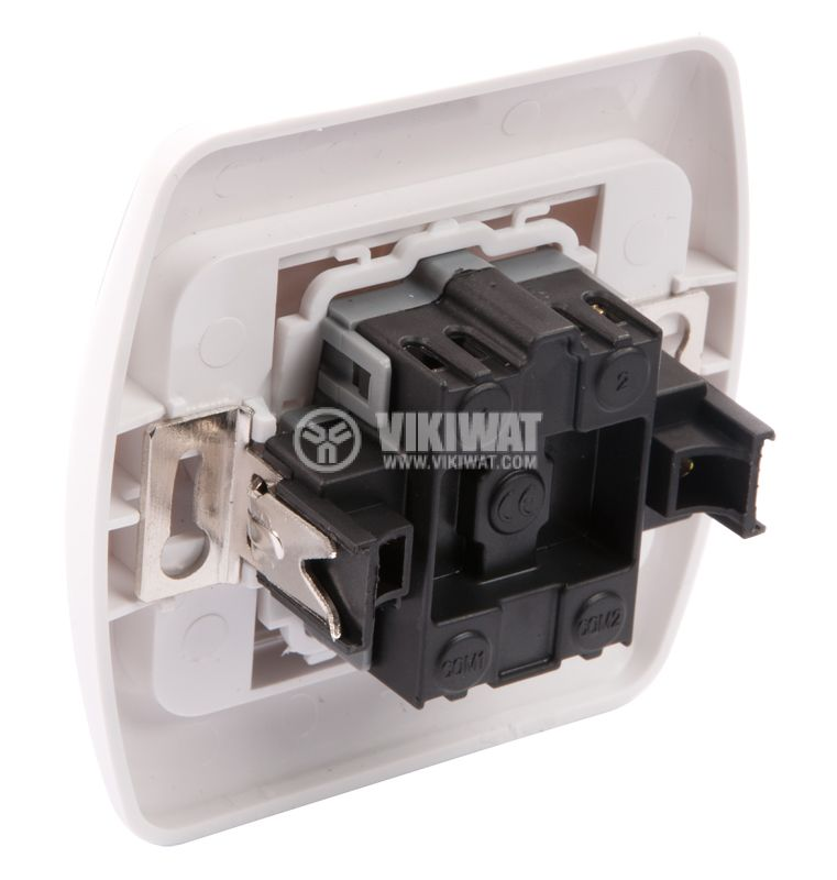 Double Electrical Switch, 250 V/AC, 16 A, White - 3