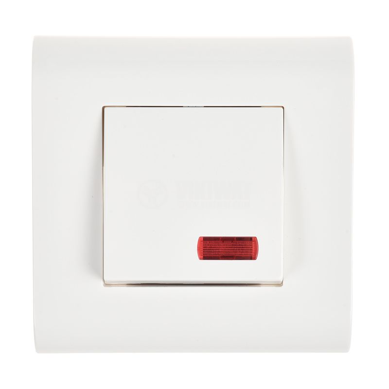 Electric switch for boilers, 32A, 250VAC, built in mounting, with light indication - 1