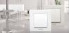 Електрически контакт, Karre Plus, Panasonic, единичен, 16A, 250VAC, бял, за вграждане, шуко, WKTC0202-2WH - 6