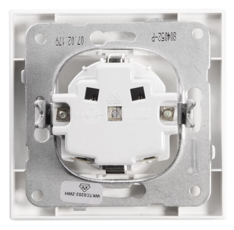 Power electrical socket, Panasonic, 16A, 250VAC, white, build-in, schuko - 5