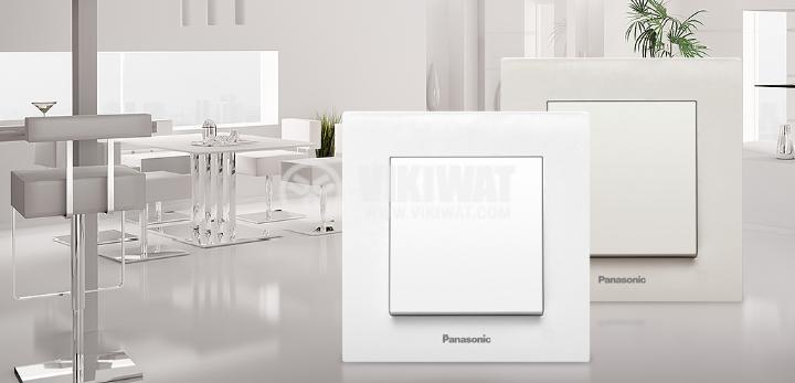 Power electrical socket, 2P+E, Karre Plus, Panasonic, 16A, 250VAC, white, build-in, schuko, WKTC0202-2WH - 6