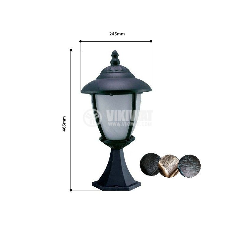 Outdoor lighting fixture Pacific CB 03, Е27 - 1