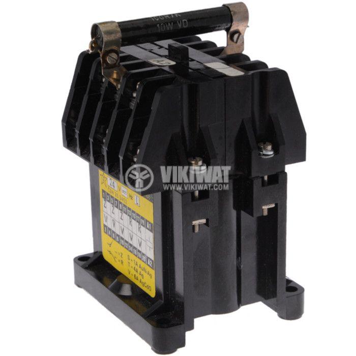 Контактор, трифазен, бобина 24VDC, 3PST - 3NO, 6A, 2NC, RP301 - 2
