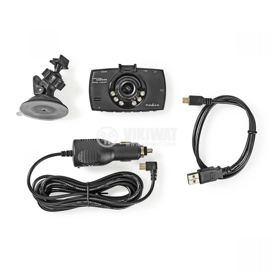 HD portable car video camera with 2.7-inch display, Full HD 1080p, 120°  - 10