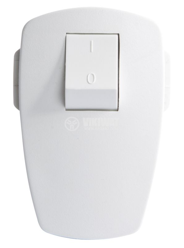 Plug with Schuko type, white, 220VAC, 16A, PVC - 3