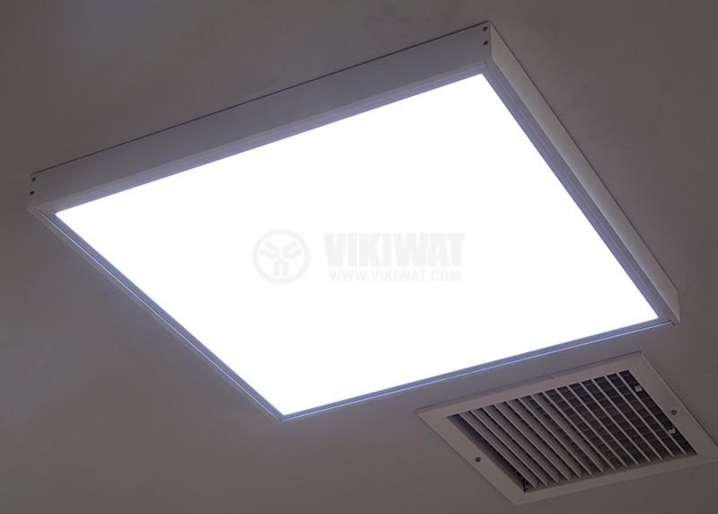 LED panel 50W, square, 220VAC, 3400lm, 6400K, cool white, 600x600mm, surface mounting, BN06-6620 - 4