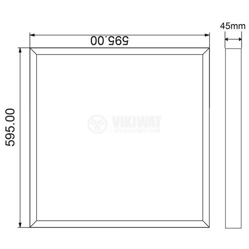 LED panel 50W, square, 220VAC, 4000lm, 6500K, cool white, 600x600mm, surface mounting, BP21-06630 - 2